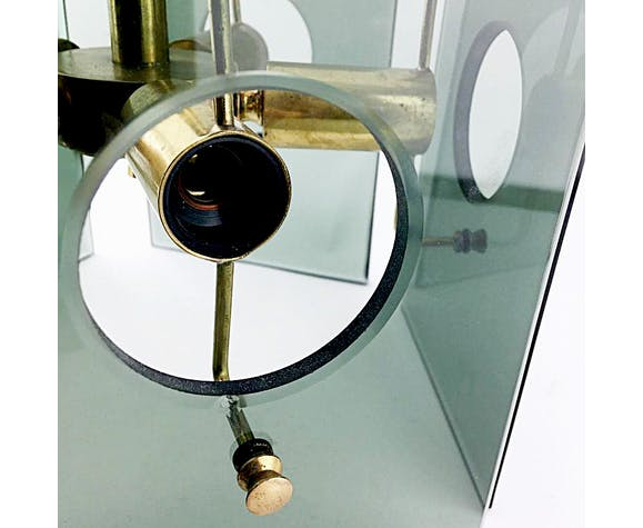 Glass hanging lamp by Gino Paroldo for Fontana Arte