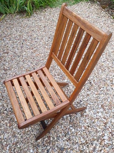 Lot de 5 chaises bois pliable