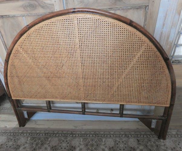 Tête de lit en cannage et bambou