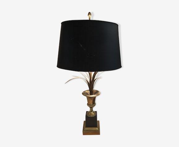 Lampe de bureau en bronze doré et laqué noir métal doré art