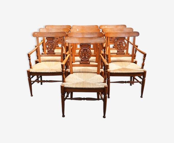 Lot 10 fauteuils d'époque directoire
