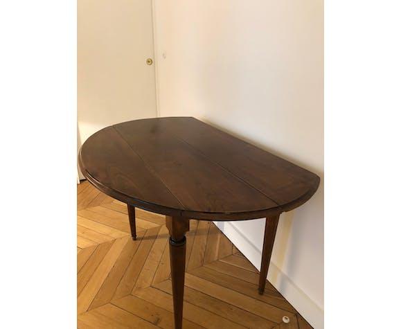 Table en merisier ovale avec 2 abattants