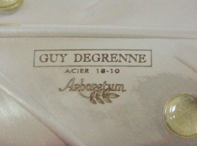 Coupelle feuille Guy Degrenne Arboretum acier inox 18/10 vintage