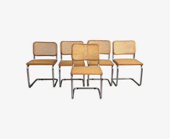 Série de 5 chaises B32 Breuer