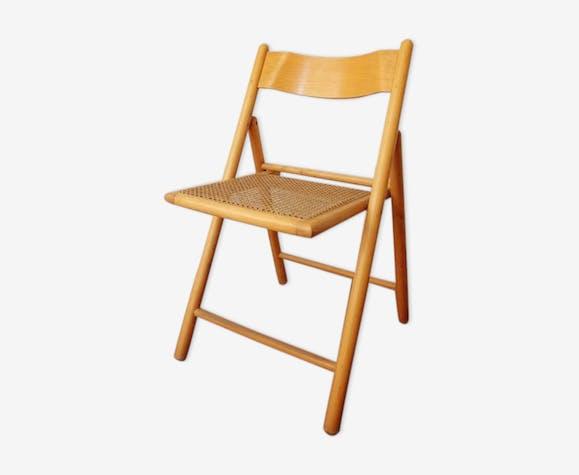 vintage années pliante 60 et bois bois cannage Chaise des thdxsCQr