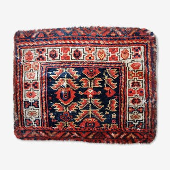 Tapis ancien collectable persan malayer visage de sac 44cm x 55cm 1900