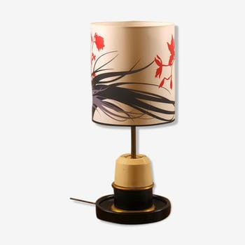 Lamp 1940 empty leather and wood pocket
