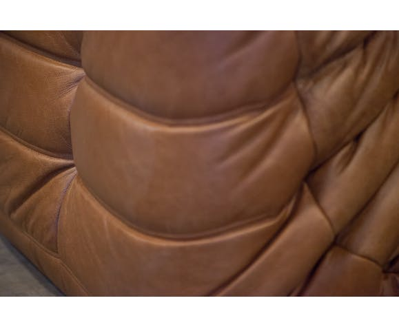 """""""Togo"""" angle chair leather by Michel Ducaroy for Ligne Roset"""