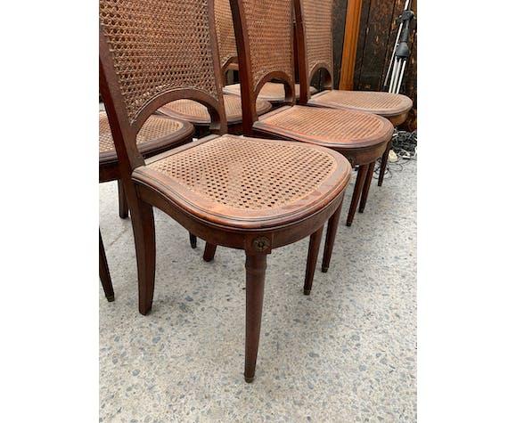 6 chaises cannées