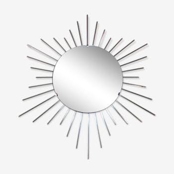 1960s brass sun mirror 67cm
