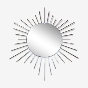 Miroir soleil en laiton années 1960 67cm