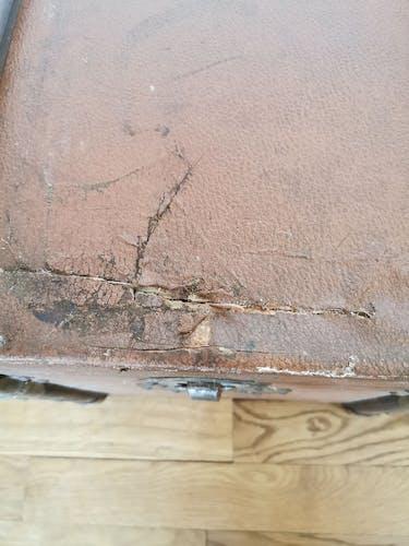 Malle ancienne bois cuir
