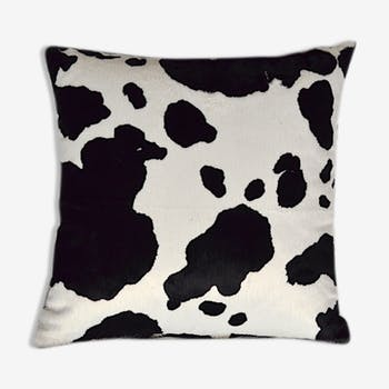 Cushion design fur cow motif is hand made in france