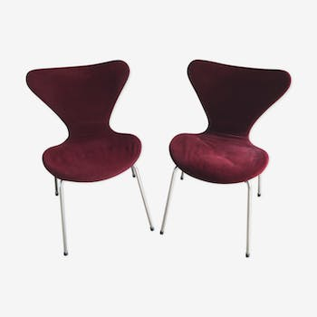 Duo de chaises Arne Jacobsen design 50