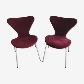 Pair of chairs Arne Jacobsen design 50