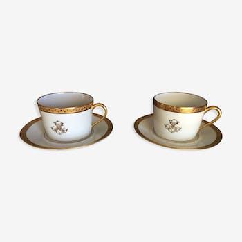 porcelain art breakfast head René Caire Limoges