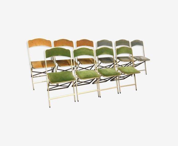 lot de 10 chaises pliables vnementiel velours - Chaises Pliables