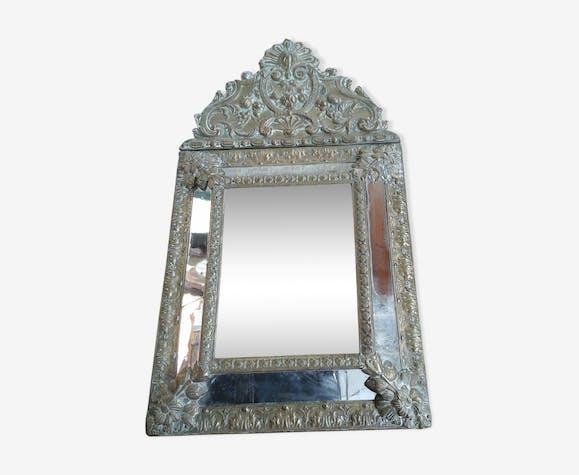 Miroir parclose en cuivre 33 x 59 cm cuivre dor for Miroir petit format
