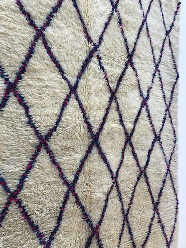 Old Moroccan Berber carpet Beni Ouarain 2.46x1.83m
