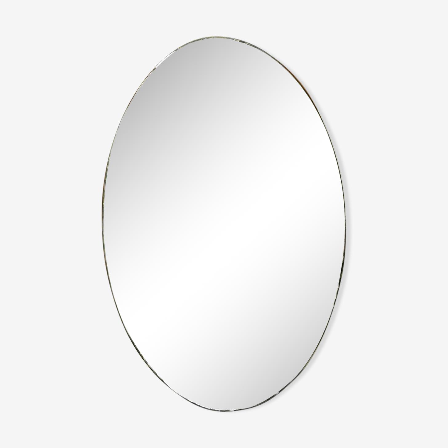 Miroir biseauté ancien 28x45cm