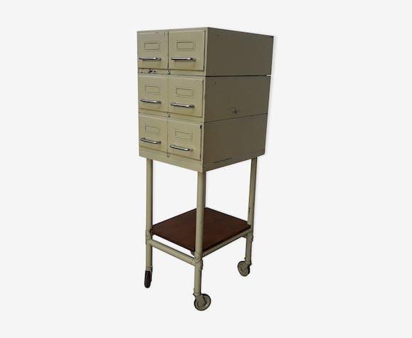 Meuble métallique à tiroirs Flambo