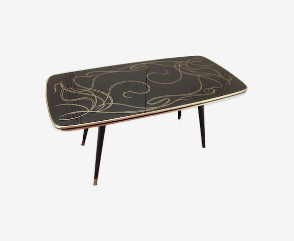 Table basse verre vintage années 60
