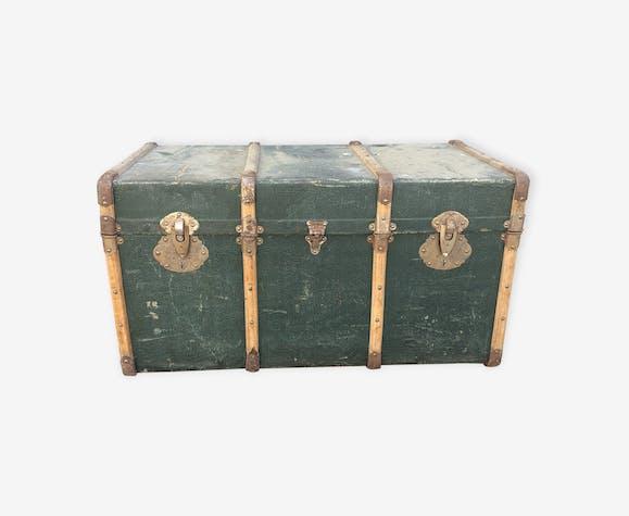 Malle de voyage en bois décoration intérieur vintage 1900/1930