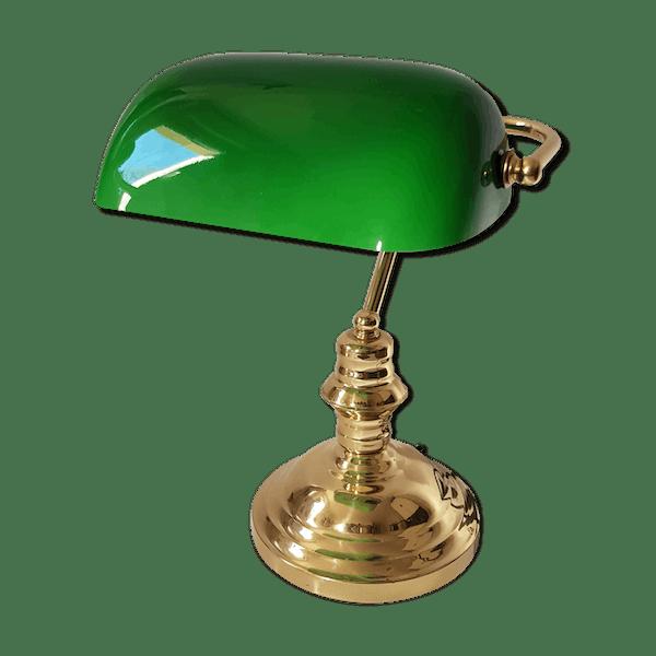 Lampe De Bureau Notaire Avocat Banquier Laiton Dore Classique