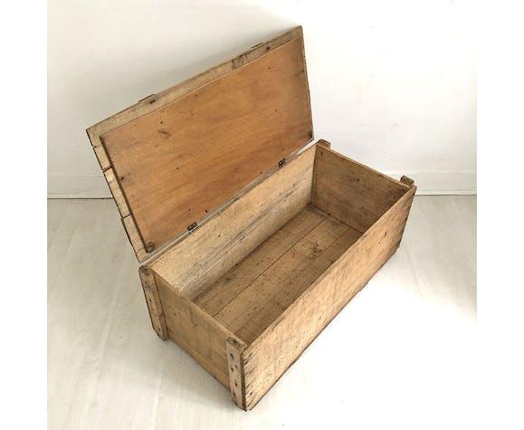 Caisse en bois vintage des années 50