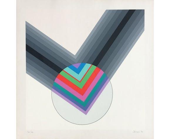 """Affiche Eugenio Carmi """"Sono per lIimmaginazione"""" 1974"""