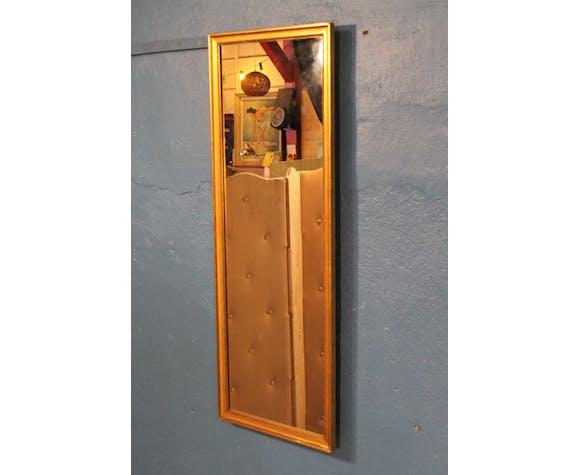 """Miroir mural doré """"Vertical"""" début XXème 101x37,5cm"""