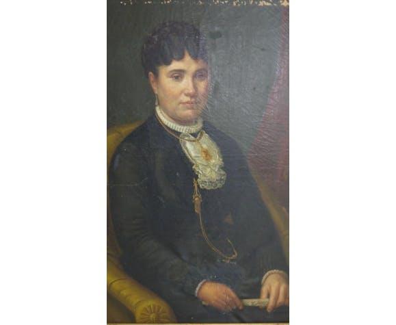 Portrait femme à l'éventail 1882 Jammes