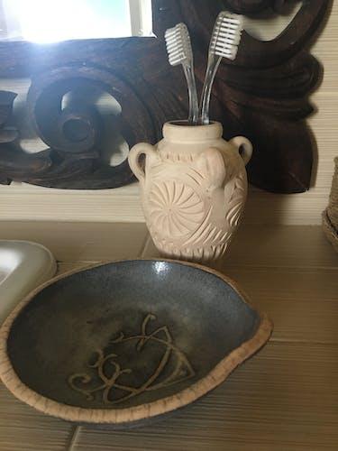 Coupelle céramique Raku signée
