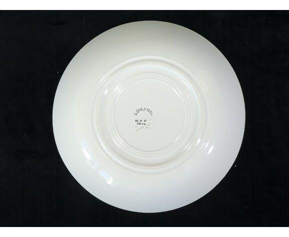 6 assiettes creuse faience de Creil et Montereau Hbcm modele luxeuil no digoin