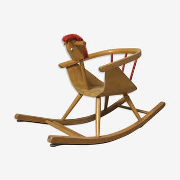 Baumann wooden rocking horse