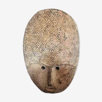 Wooden carved tribal mask - Bandung