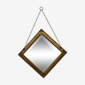 tr s grand miroir mural rainur verre et cristal transparent classique 135351. Black Bedroom Furniture Sets. Home Design Ideas