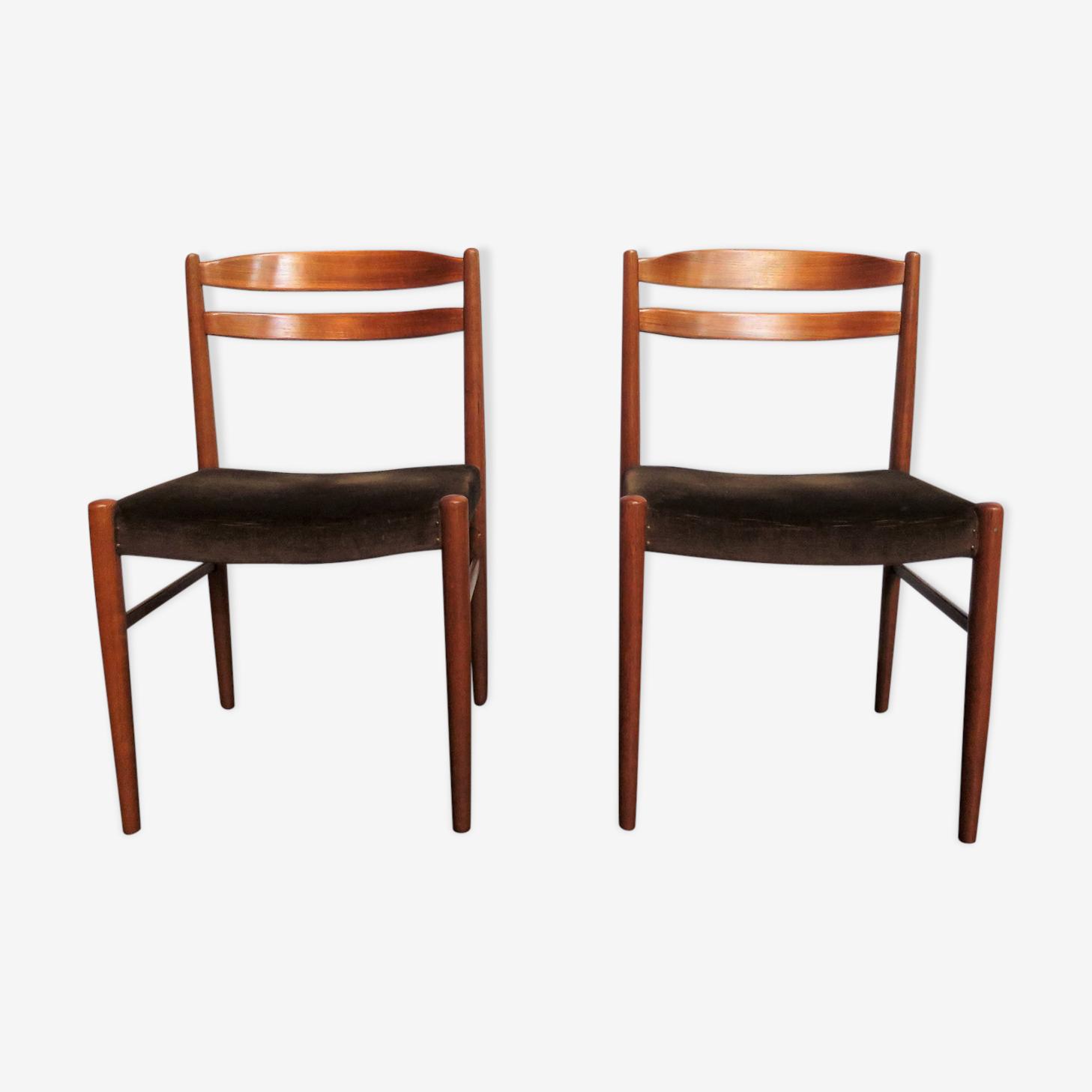 Paire de chaises scandinaves Johansson
