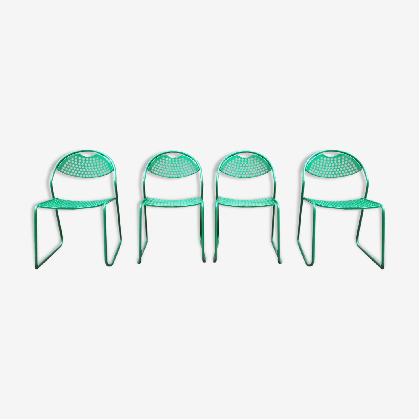 Lot de 4 Chaises de jardin vintage