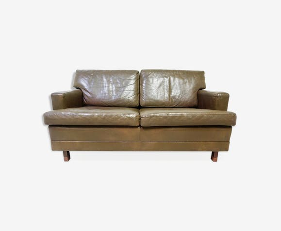 Scandinavian leather couch - leather - brown - scandinavian ...
