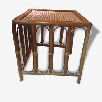 Table d'appoint en bambou vintage