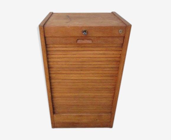 Meuble classeur a rideau en bois ancien bois mat riau bois couleur industriel skddrka - Meuble a rideau ...