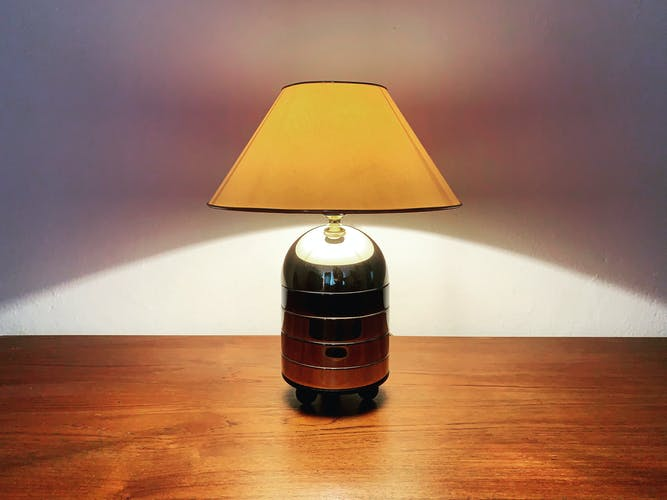 1980s Modernist bicolor table lamp