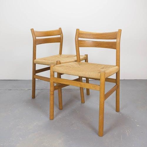 Ensemble de 6 chaises de salle à manger BM1 par Borge Mogensen