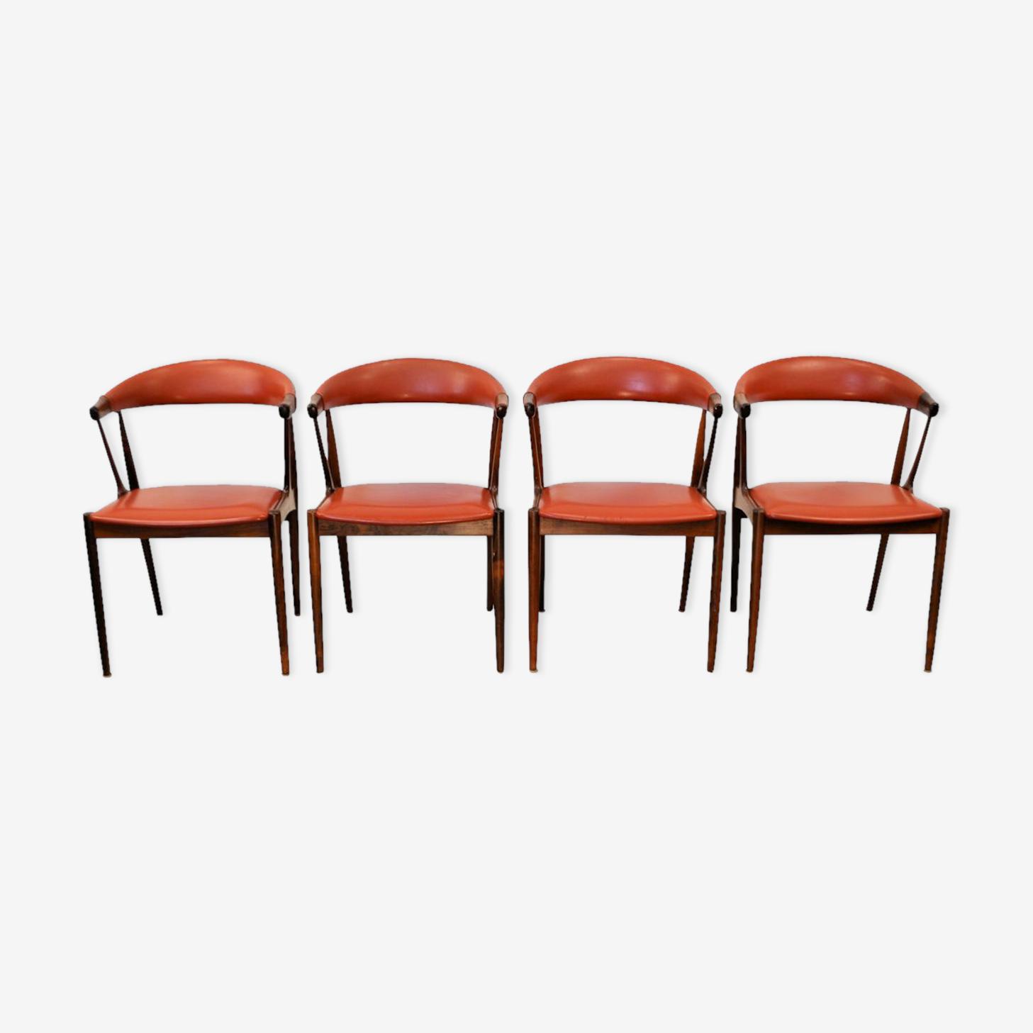 Set de 4 chaises palissandre vintage par Johannes Andersen
