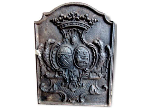 plaque de chemin e ancienne blason et couronne fleur de. Black Bedroom Furniture Sets. Home Design Ideas