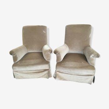 Paire de fauteuils de repos XIXeme