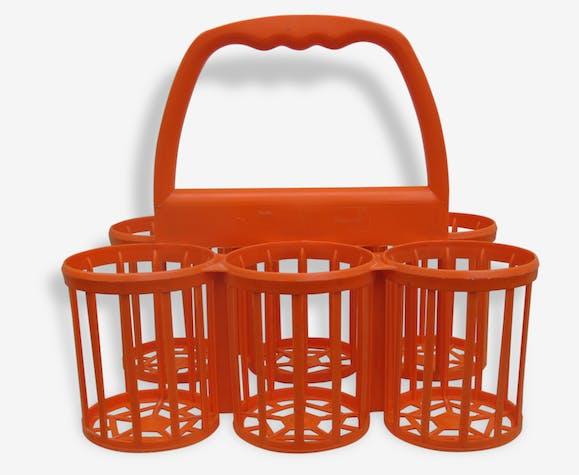 Porte Bouteilles Vintage Plastique Orange Vintage 42434