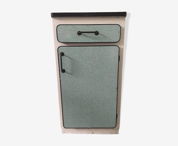 Meuble d'appoint vintage en formica vert clair