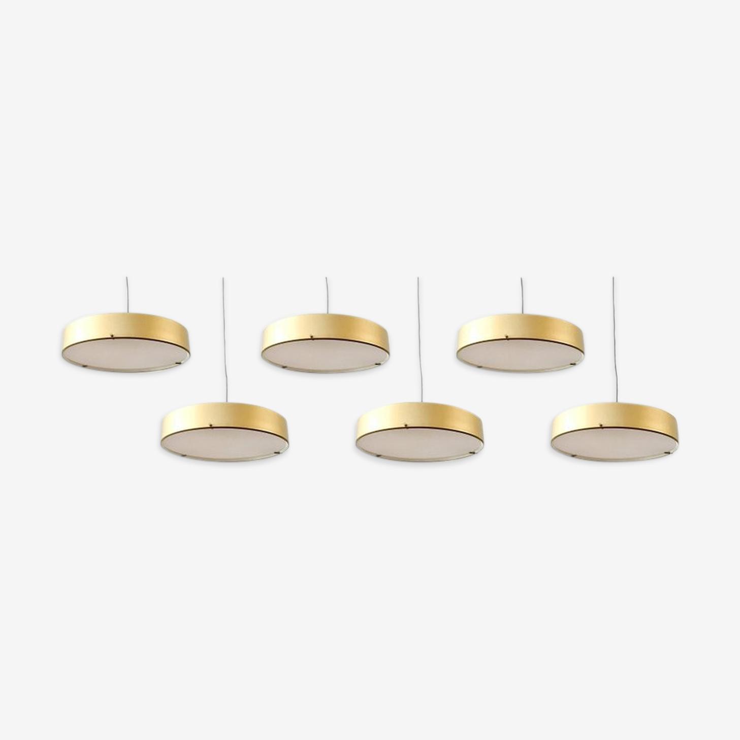 Six major suspension lamps Stilnovo model 288, 50 years
